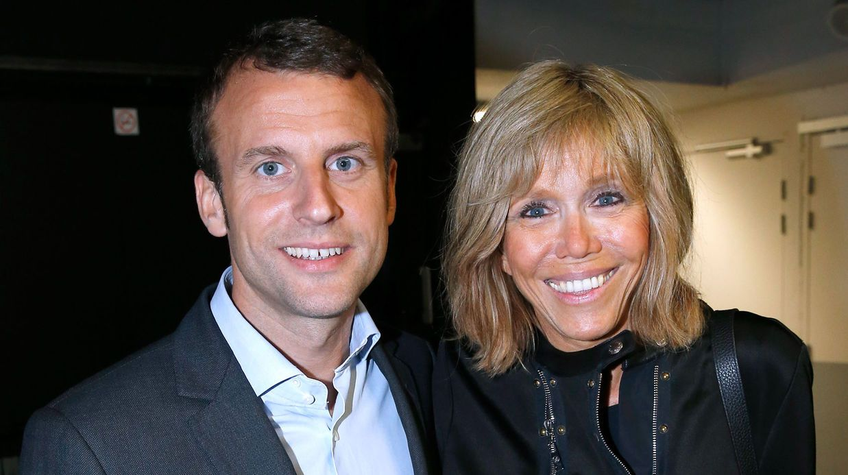 emmanuel macron and his wife brigitte trogneux life facts pinterest. Black Bedroom Furniture Sets. Home Design Ideas