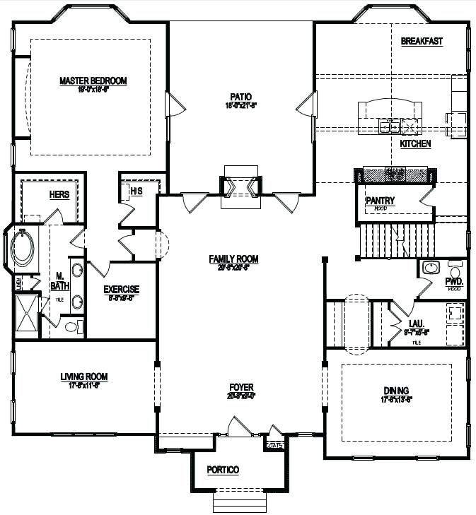 House Plans With Stairs In Kitchen New Homes Hidden