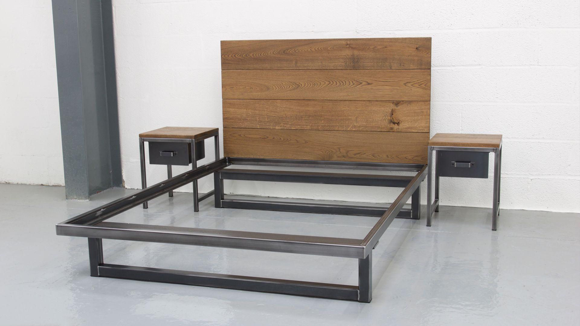 The Blacksmith Bed  Industrial Bedroom Furniture  Steel Vintage