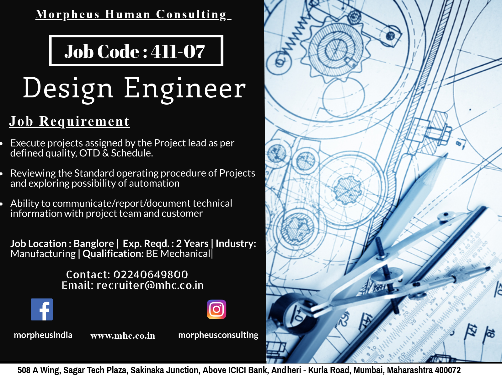 We Are Looking For A Design Engineer In Bangalore For A Leading Manufacturing Company The Ideal Candidate Should Be Engineering Design Job Posting Job Opening