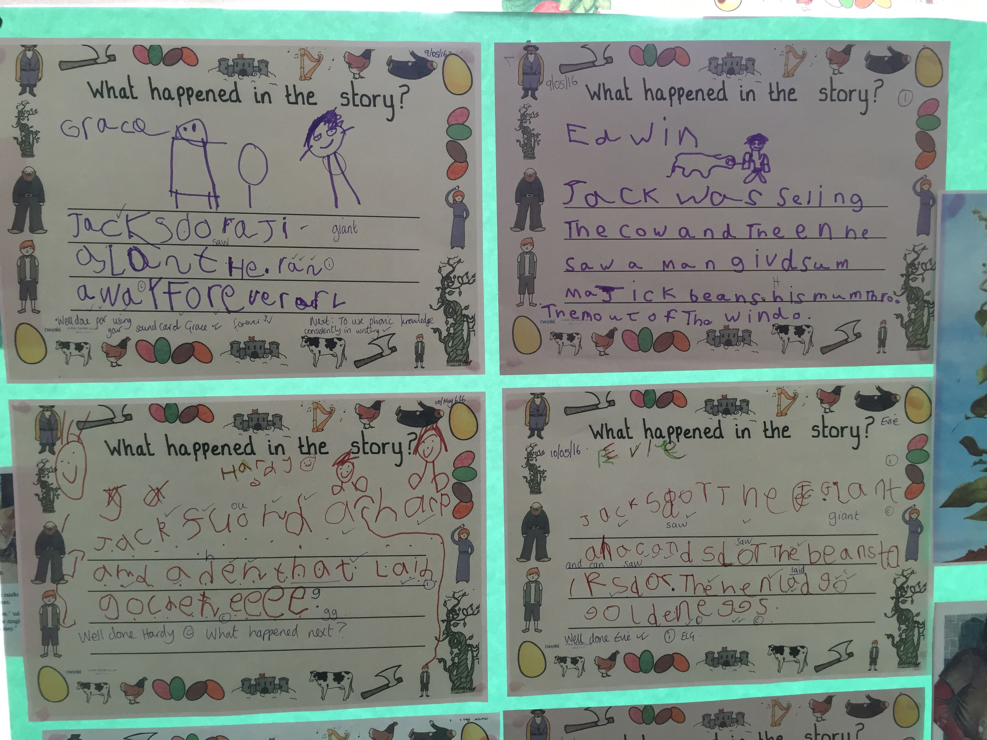 Writing Examples For Jack And The Beanstalk