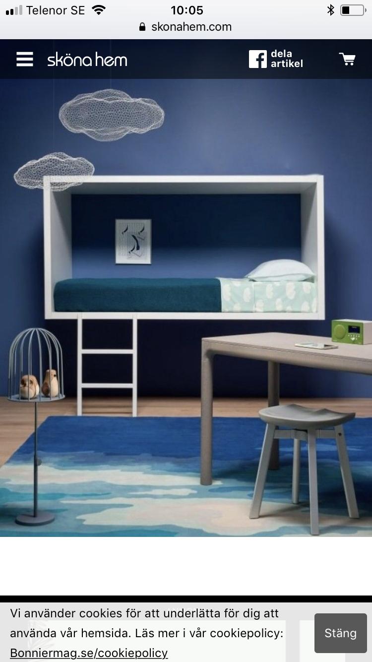 Loft bed with desk blue  Pin by Majornastyle on Humlevägen Maja  Pinterest  Kids bedroom