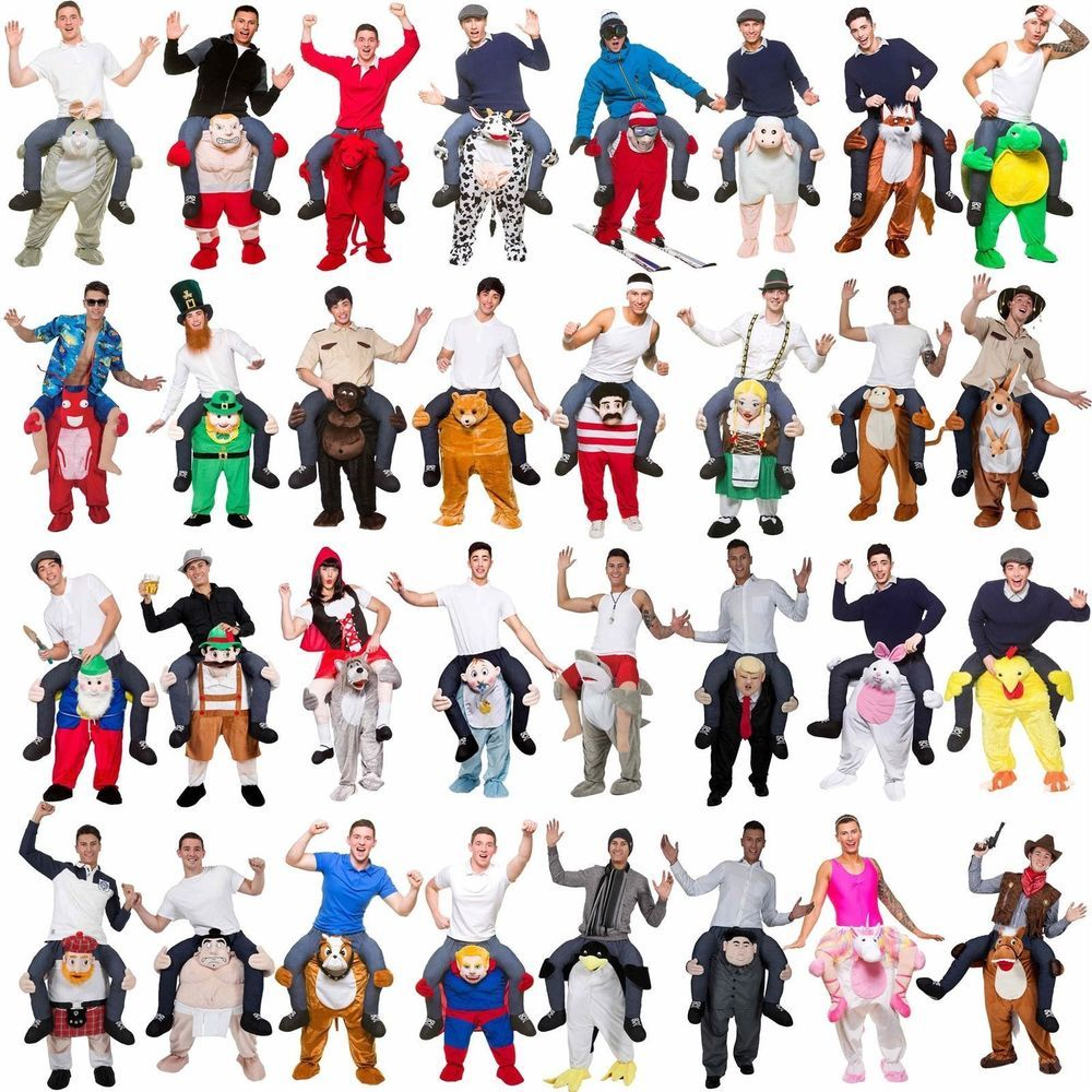 Shoulder Carry Ride On Piggy Back Fancy Dress Costume Outfit Mens Ladies Funny