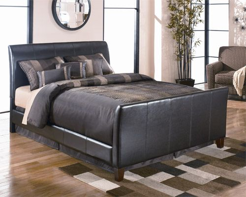 At Rent A Center The Signature Design Stanwick King Bed From Ashley Features A Contemporary Desi Upholstered Beds Queen Upholstered Bed Upholstered Bed Frame