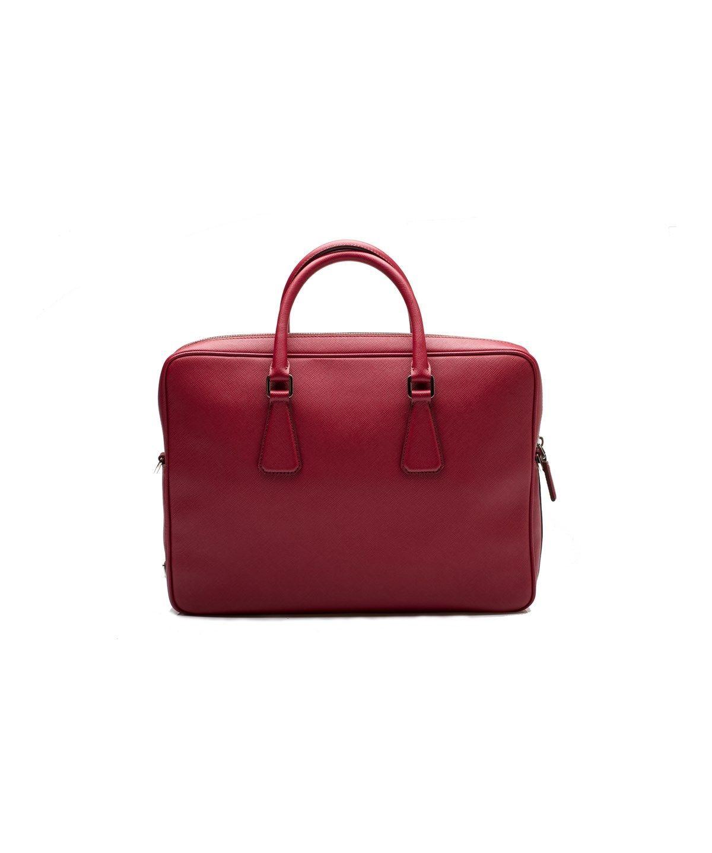 66333ff405 PRADA Prada Men S Women S Saffiano Leather Travel Laptop Briefcase Handbag  Ruby Red .  prada  bags  shoulder bags  hand bags  suede  lining