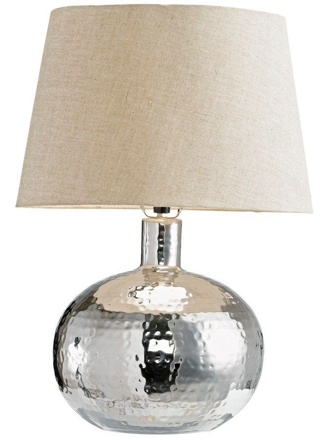 Tischlampe Silber, Höhe Ca. 58cm, Bauchig, Energieeffizienzklasse: A++,  Heine Home Jetzt Bestellen Unter: ...