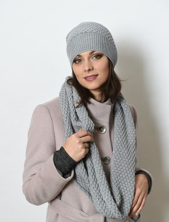 fecc0fd65b6 Winter set Set hat and scarf Merino Wool Scarf and Hat Set