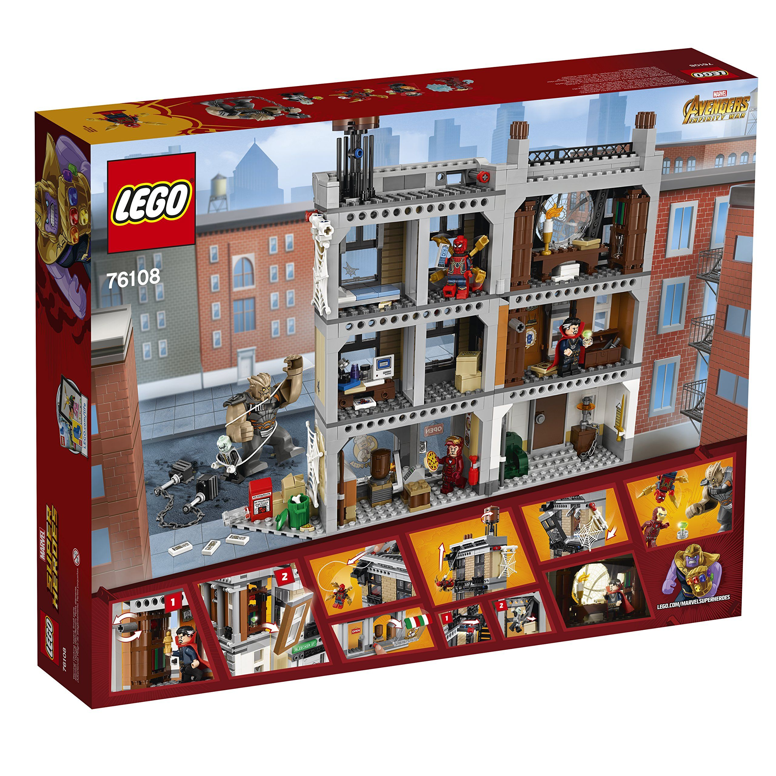 Lego Marvel Super Heroes Avengers Infinity War Sanctum Sanctorum Showdown 76108 Building Kit 1004 Lego Marvel Super Heroes Lego Marvel Marvel Avengers Movies