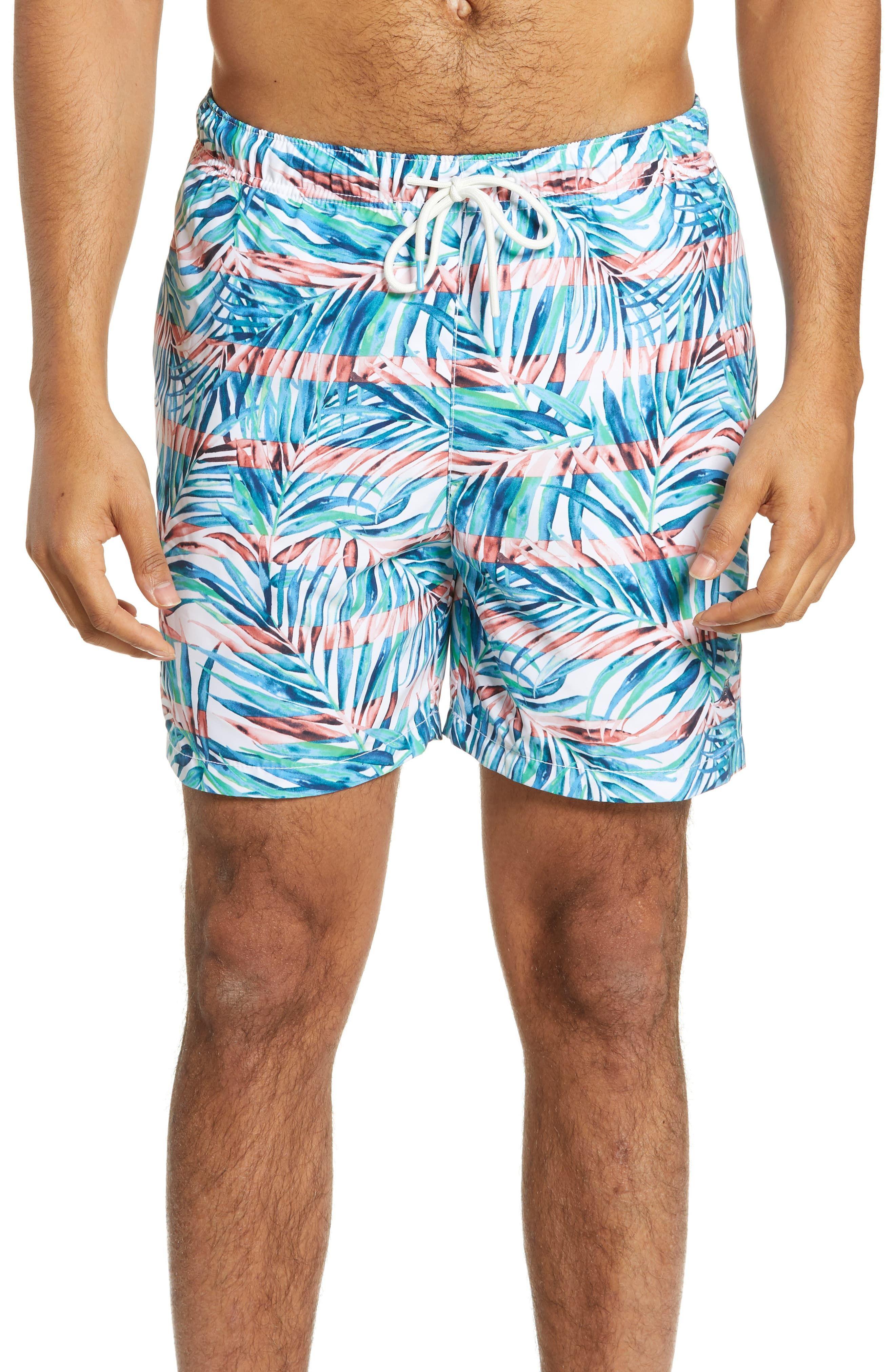 Tommy Bahama Boys Palm Tree Leaf Swim Trunks