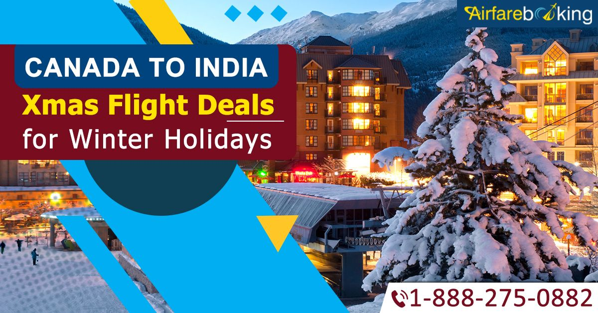 Christmas Travel Deals!! Make this winter holiday perfect with Airfarebooking from #Canada to #India Christmas flight deals. Book Now!  For more information CALL:- 1-888-275-0882 (Toll-Free).  #CanadatoIndiaflightdeals #travel #places #IndianDestinations #CanadatoIndia #beautifullocation #TouristsAttractions #ChristmasTraveldeals #ExploreIndia #IncredibleIndia