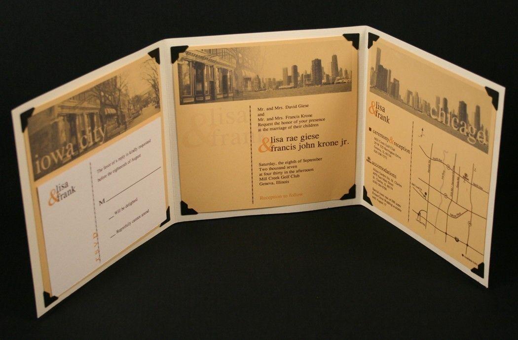 trifold wedding invitation tale of two cities custom wedding invitation 800 via etsy