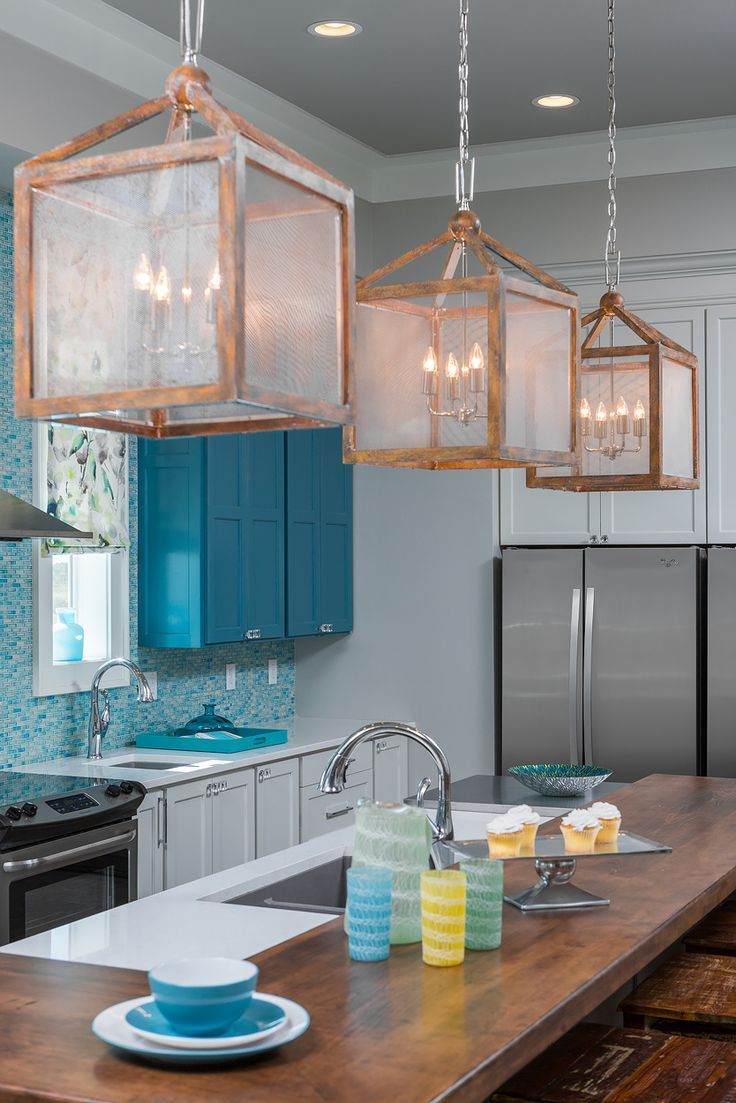 This Gorgeous Kitchen is High Style & Low Budget | Coastal, Teal ...