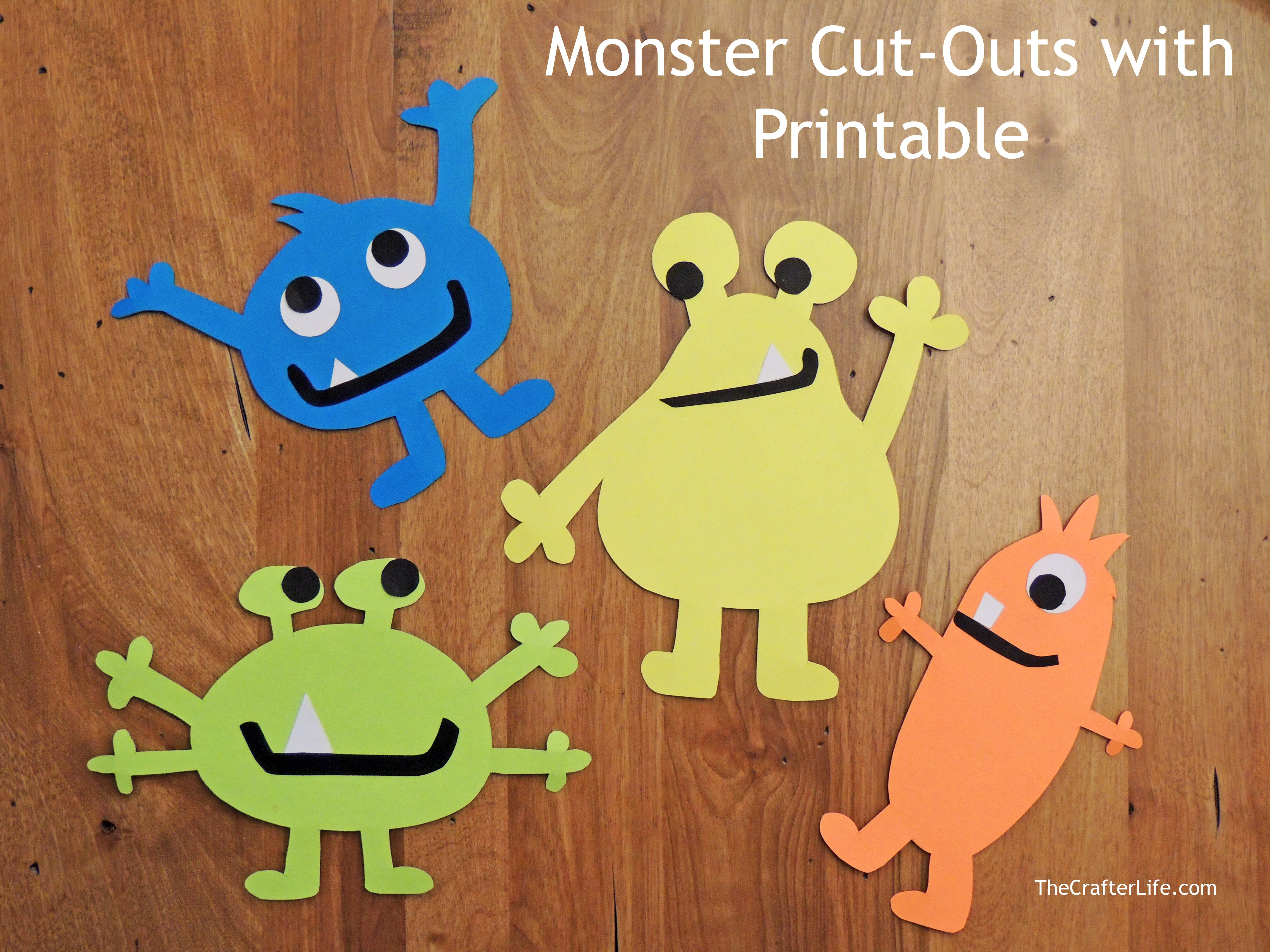 I Made These Monster Cut Outs To Use At My Son S Monster Birthday Party It S Actually Really