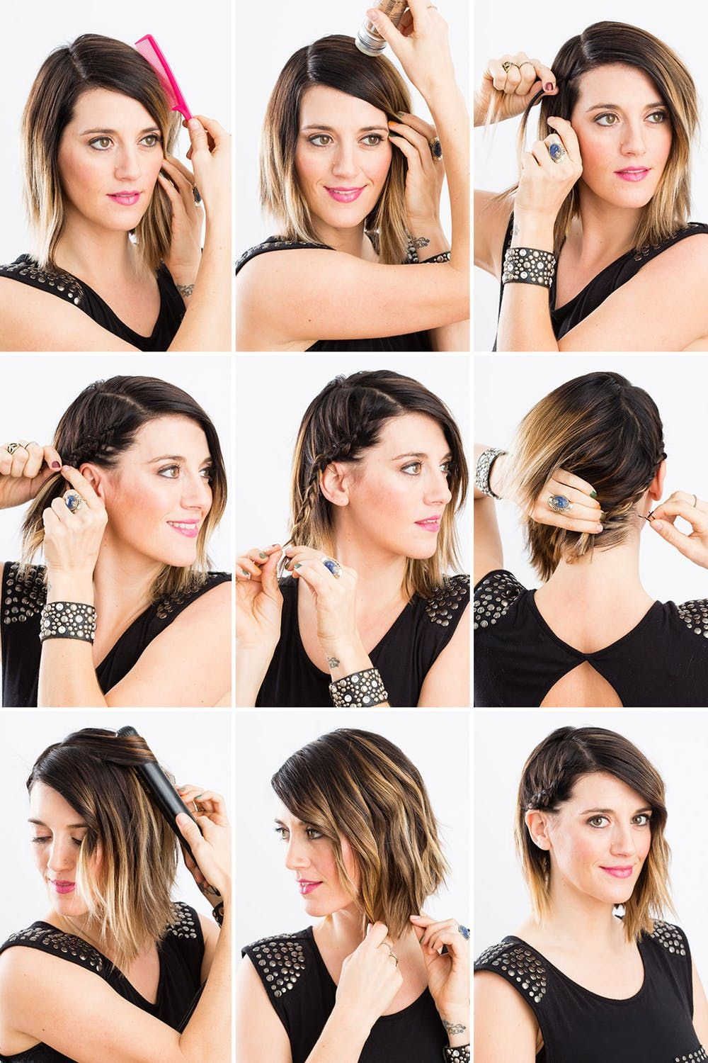 5 Minute Braid Diy Cara D S Side Braid For Your Holiday Party Short Hair Styles Braids For Short Hair Medium Length Hair Styles