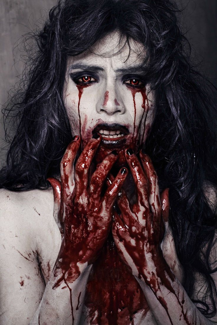 17 amazing bloody halloween makeup ideas - Bloody Halloween Masks