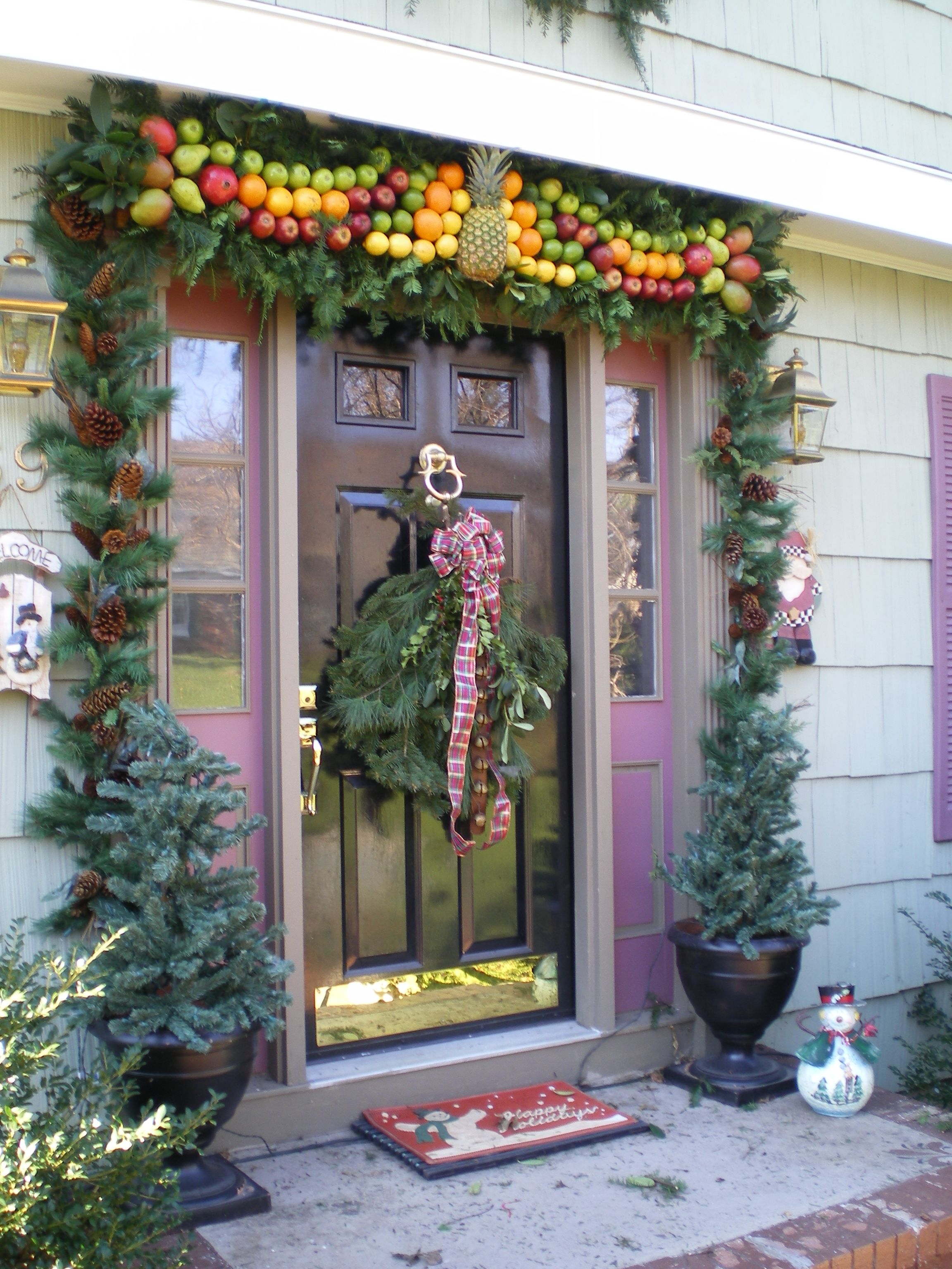 Holiday Fruit Board Williamsburg Style Williamsburg Christmas Outdoor Christmas Decorations Christmas Decorations