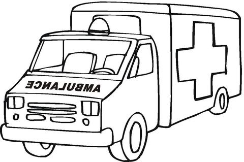 Ambulance Emergency Car Coloring Page From Rescue Vehicles Category Select From 24848 Cars Coloring Pages Monster Truck Coloring Pages Coloring Pages To Print