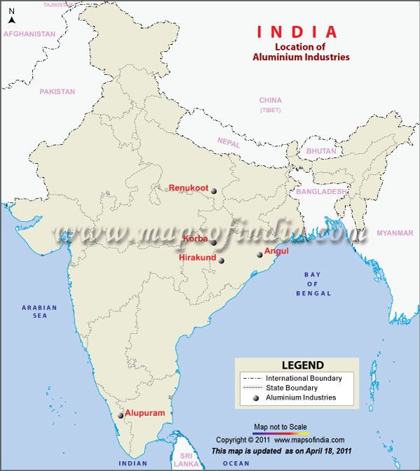 industrial map of india Aluminium Industry In India Map India Aluminium industrial map of india
