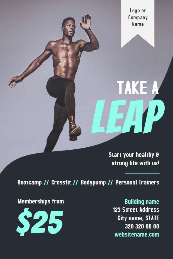 Gym Fitness Flyer Template Modern Fitness Flyers Pinterest