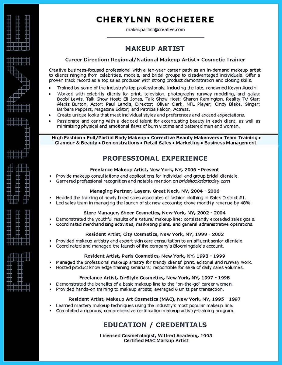 if you are an artist and you need to make a resume  you