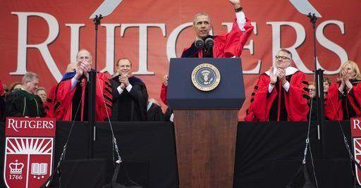 Obama Slams Trump Wall At Rutgers Commencement As White House