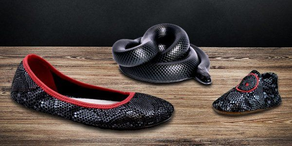 06338d7b9441 Slithering and Sleek Black Mamba Ballet Flats Design-Your-Own Ballerine  Flats by Soft