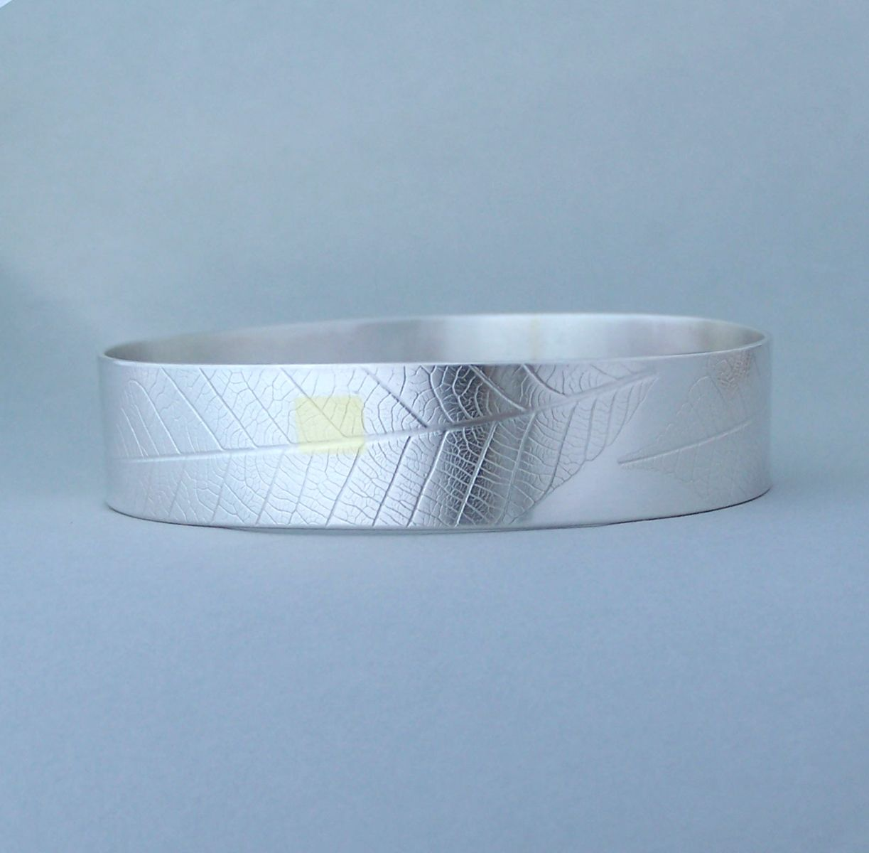 rubber leaf bangle | Contemporary Bangles by contemporary jewellery designer Naomi James