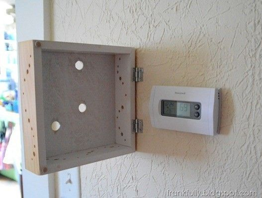 Creative Ways to Disguise Your Thermostat #howtodisguiseyourself Creative Ways to Disguise Your Thermostat #howtodisguiseyourself