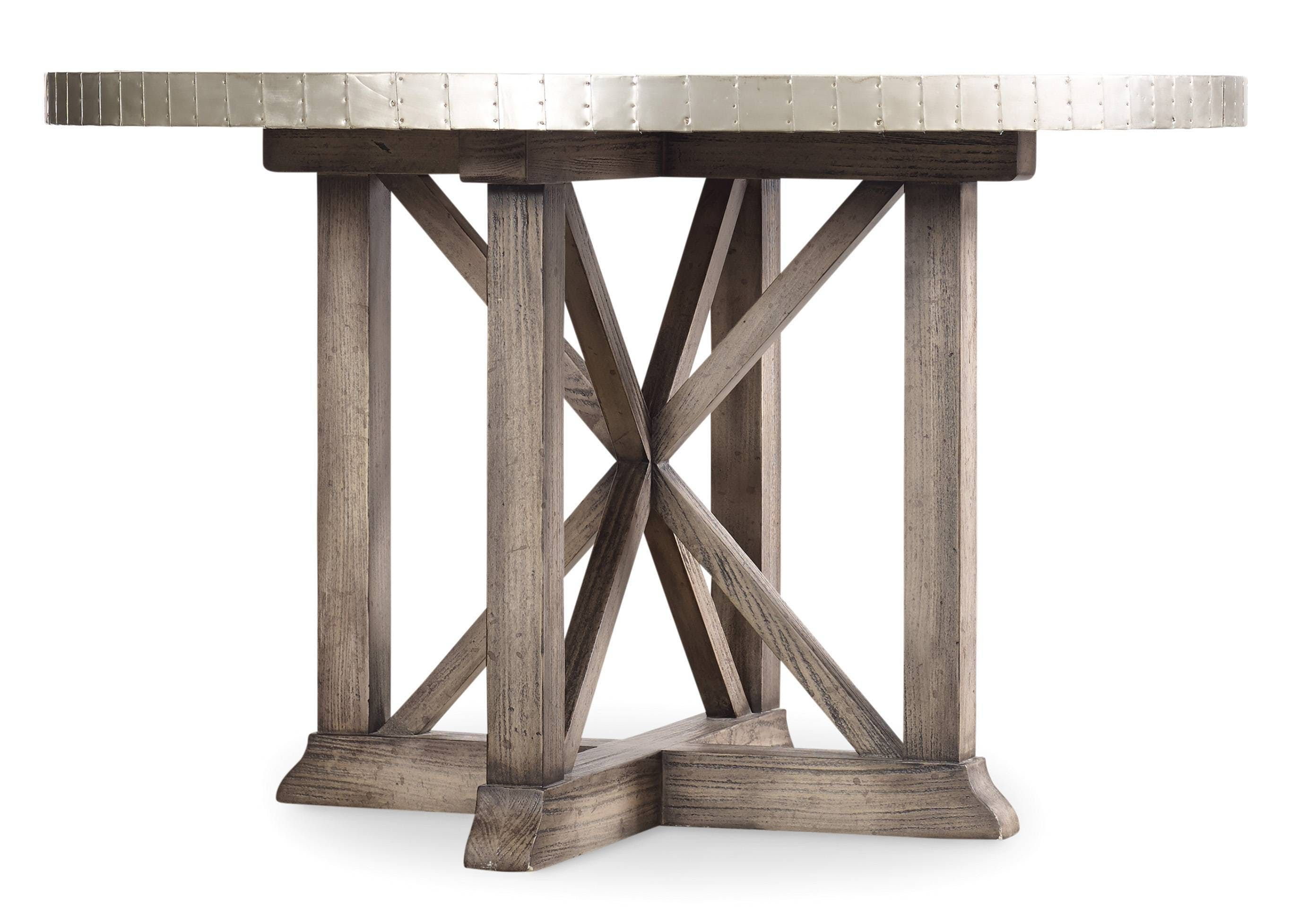 Attractive The Bentley Dining Table Offers A Chic Industrial Vibe With Its  Aluminum Wrapped Table Top