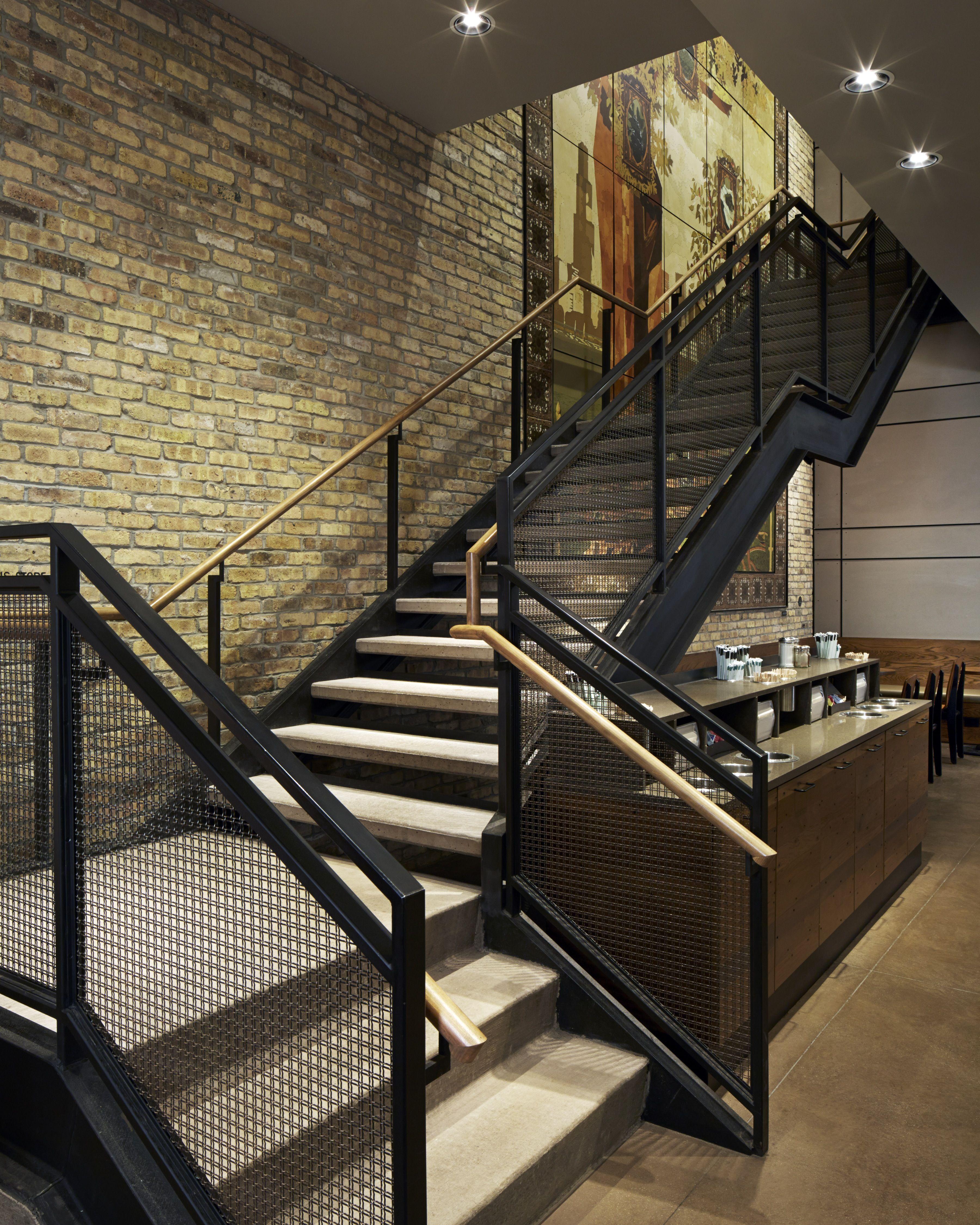 Starbucks Chicago Flagship Staircase design, Stair