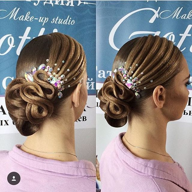 Image result for ballroom hair how to