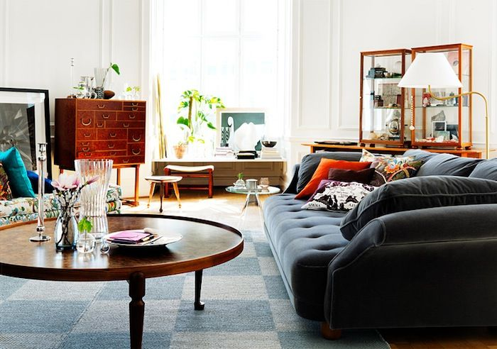 Love The Round Coffee Table And Deep Seated Sofa