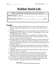 Elastic Energy Lab: Rubber Band Lab Procedures and Recording ...