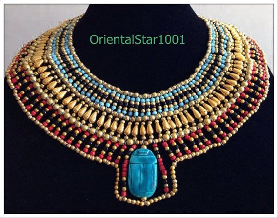 Collar Queen Cleopatra necklace handmade by OrientalStar1001  sc 1 st  Pinterest & Collar Queen Cleopatra necklace handmade by OrientalStar1001 ...