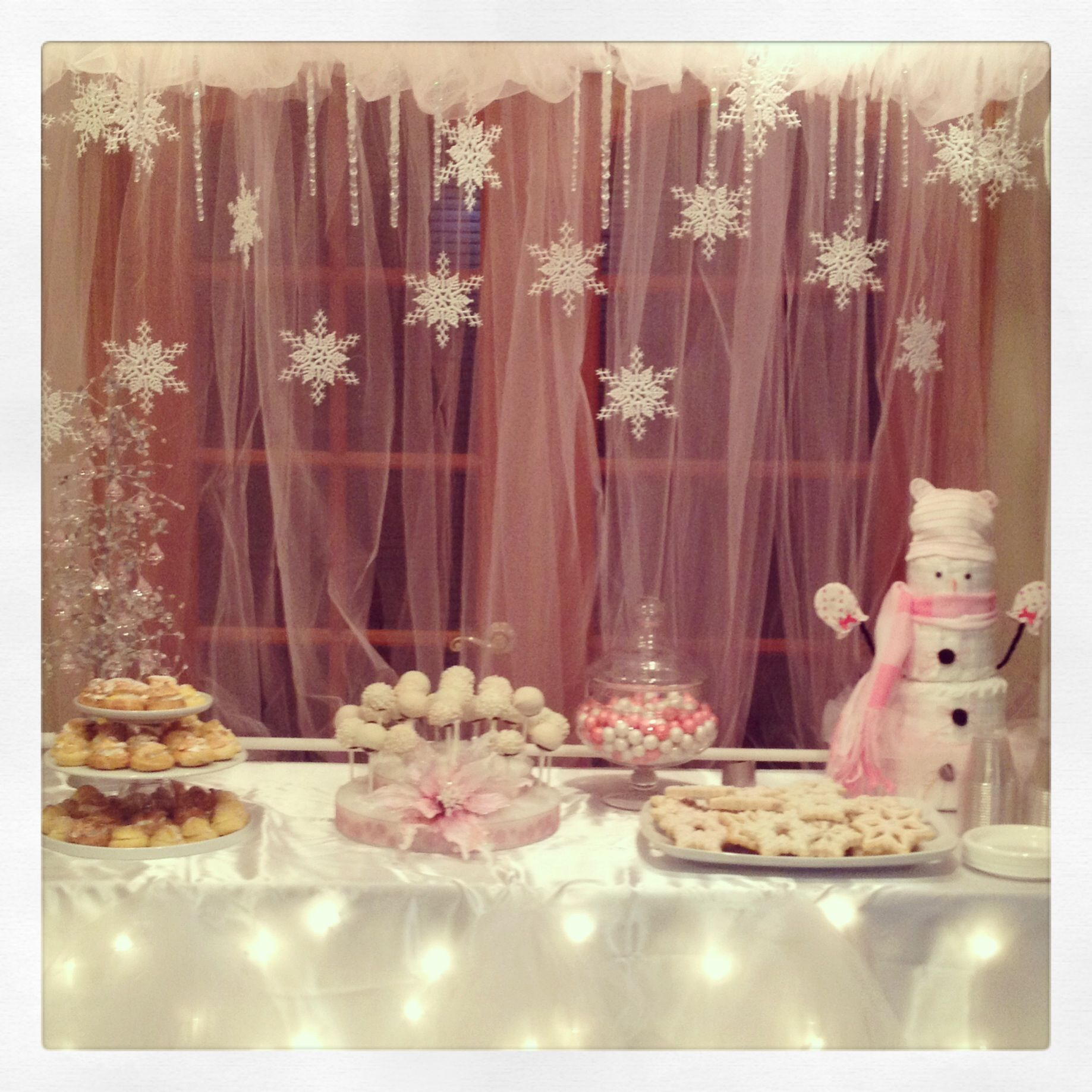 Beautiful Winter Onederland First Birthday Party Party Pinterest