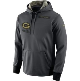 Nike Men s Green Bay Packers Salute to Service 2016 Anthracite Pullover  Hoodie 599885e67