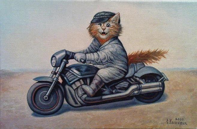 Забавные коты художника Степана Каширина