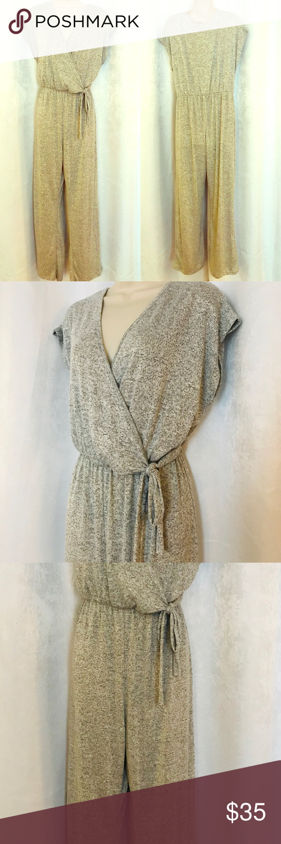 4a58e9bd6c68 Caution In The Wind Heather Gray Jumpsuit Caution to the wind Heather Gray  so comfy jumpsuit Size XL jumpsuit is made of a super soft light sweater  material ...