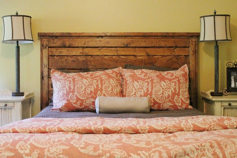 Glamorous Ready To Ship Now Queen Reclaimed Wood Headboard By Goodmanbm