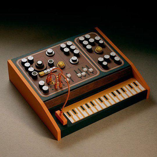 Miniature Papercraft Electronic Synthesizers