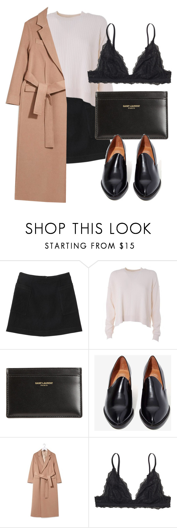 Untitled #5665 by laurenmboot on Polyvore featuring mode, Acne Studios, Topshop, Monki, Jeffrey Campbell and Yves Saint Laurent