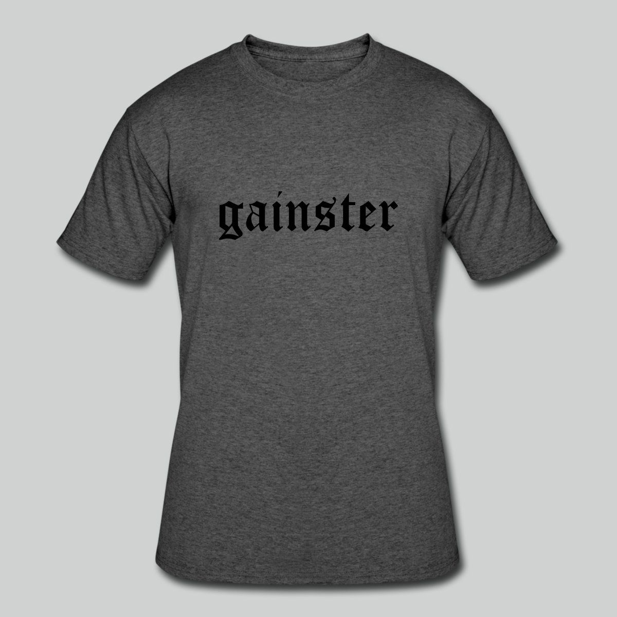 Inspiration Fitness T-shirt Weights Power Lifting Funny Gym Shirt Gainster Shirt Motivation Workout Gym Tee Gains Gift