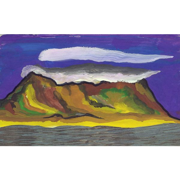Clouds over False Bay. Gouache Painting and Collage. Limited Edition... ($60) ❤ liked on Polyvore featuring home, home decor, wall art, sea wall art, quote wall art, gouache painting, typography wall art and collage wall art