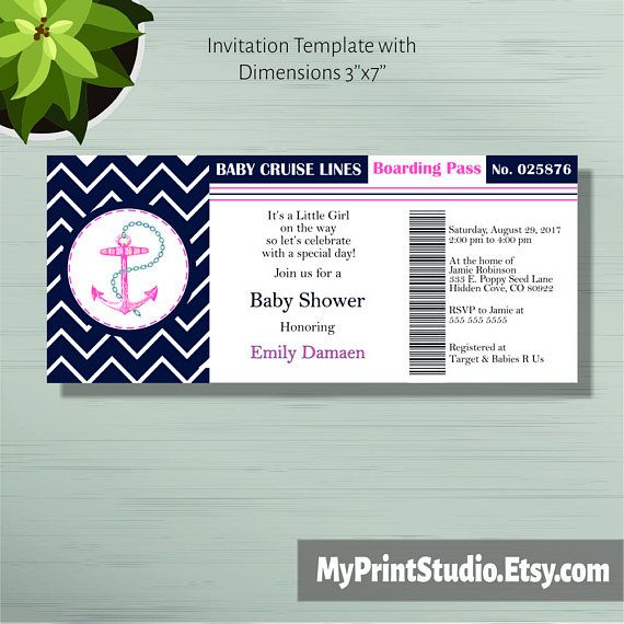 Baby Shower Invitation Print Your Own Diy Boarding