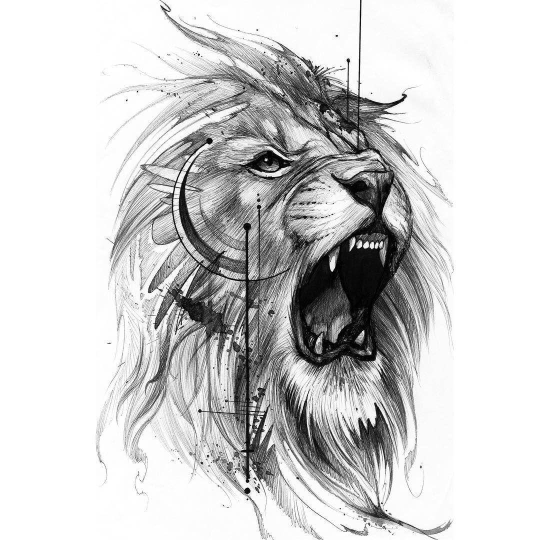 тату голова льва картинки представляет собой пирожное