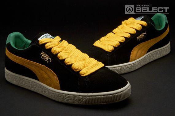 c4cbc7207f766 Puma Suede Classic Eco Mens Shoes - Black-Spectra Yellow-Amazon ...
