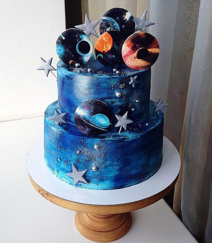 Pleasing Space Alien Galaxy Mit Bildern Schone Geburtstagskuchen Funny Birthday Cards Online Hendilapandamsfinfo