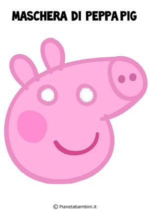 Maschere dei cartoni animati da stampare e ritagliare for Maschere di peppa pig da colorare
