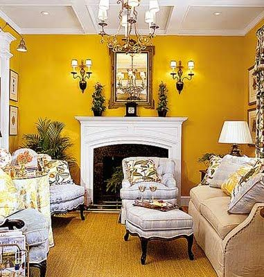 In love with yellow interiors!