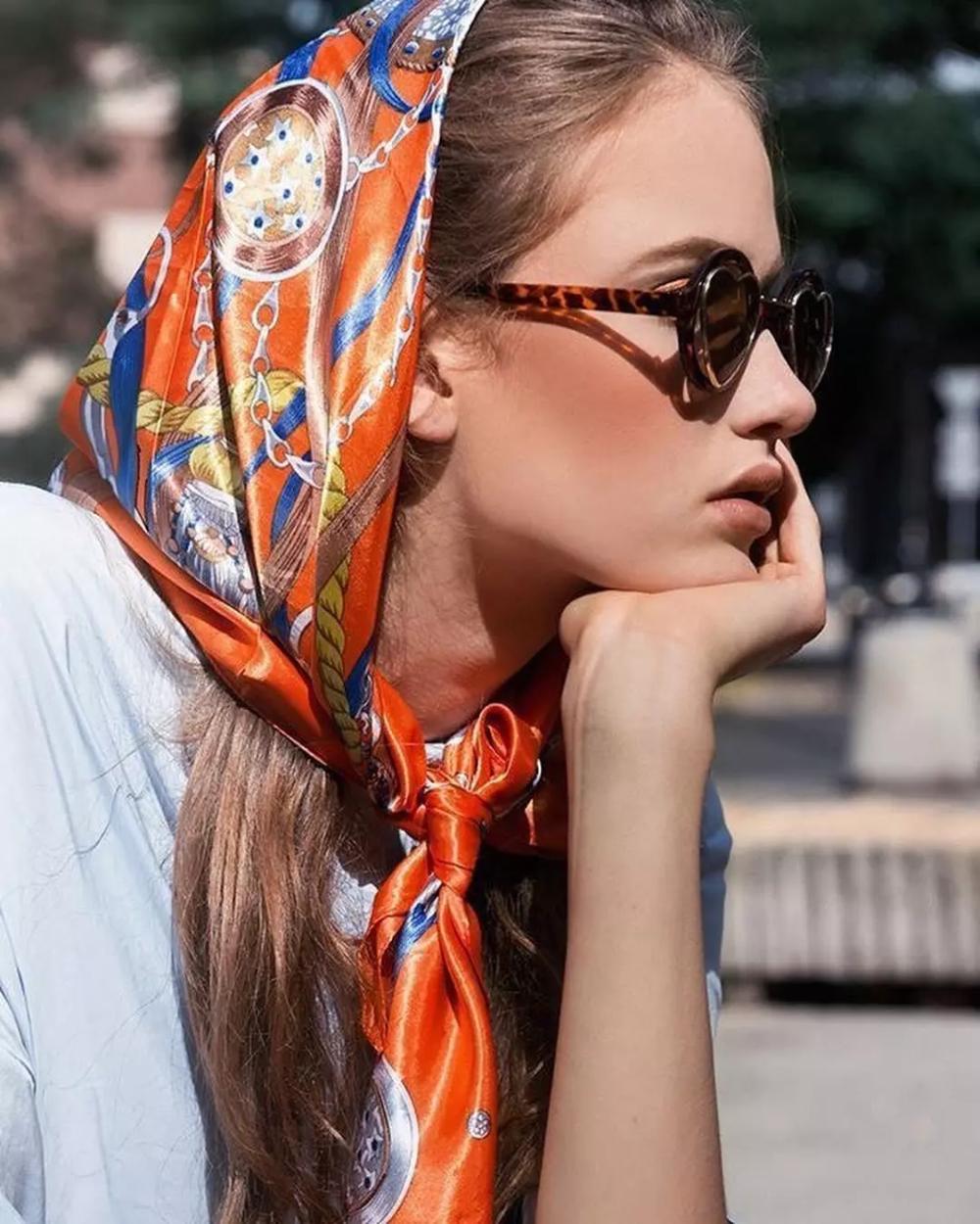 как можно носить платок